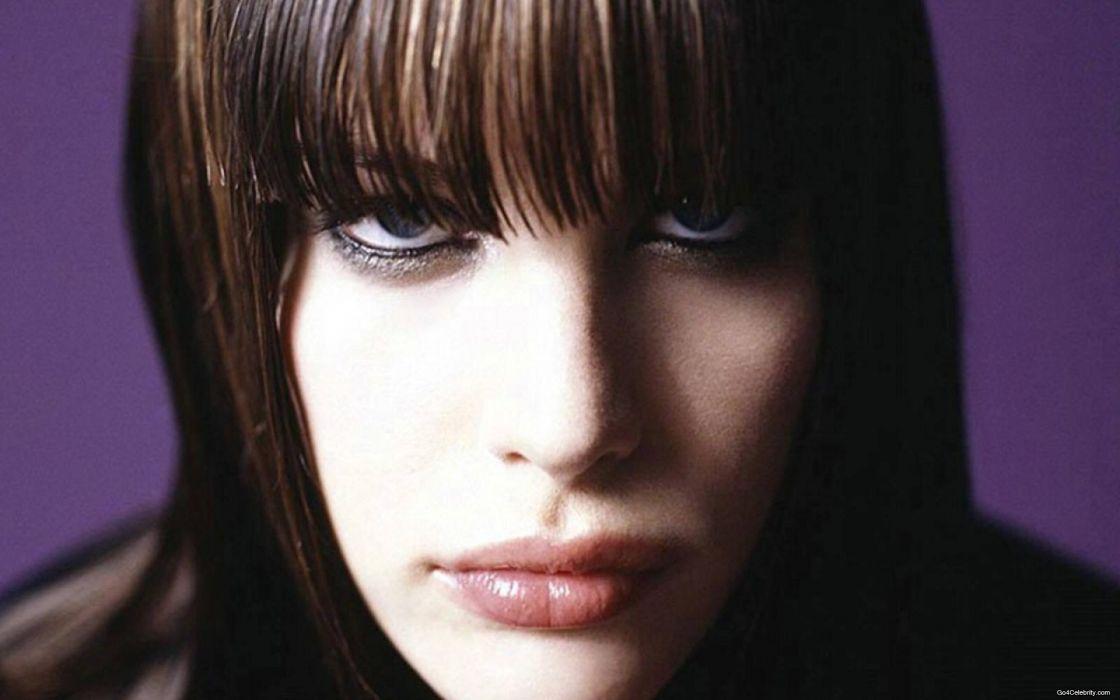 brunettes women actress Liv Tyler faces wallpaper
