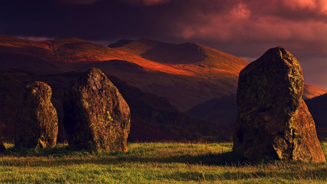 mountains rocks scenic Lake District (UK) wallpaper
