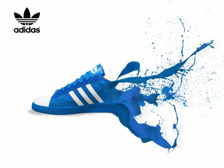 paint Adidas shoes sneakers white background wallpaper