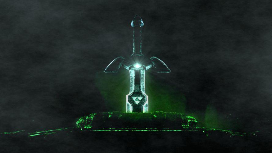 The Legend of Zelda master sword swords wallpaper