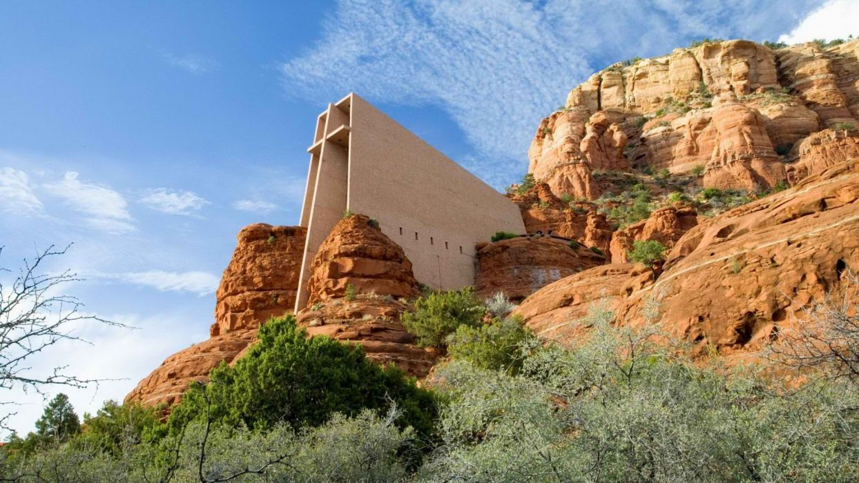 cross Arizona chapel wallpaper