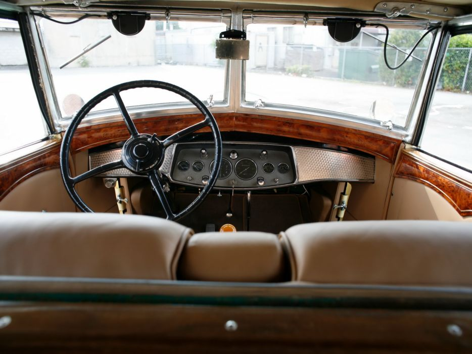 1930 Cadillac V16 All-Weather Phaeton Fleetwood luxury retro interior        h wallpaper