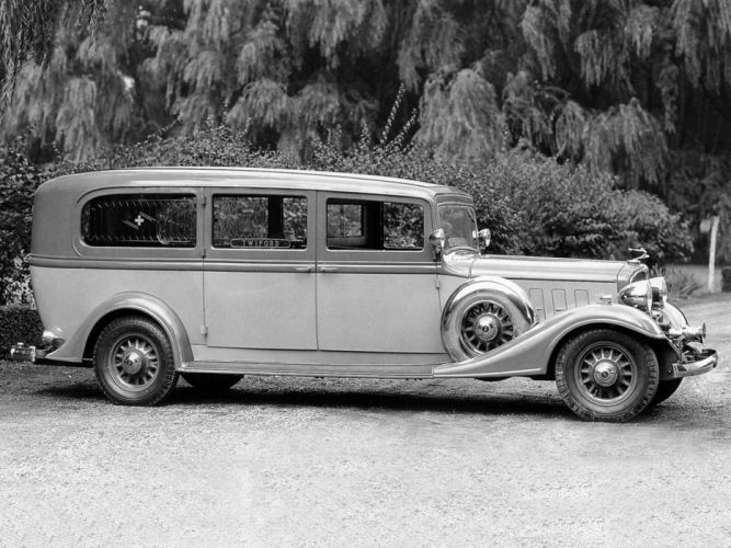 1933 Flxible Buick Premier Limousine Ambulance emergency retro stationwagon g wallpaper