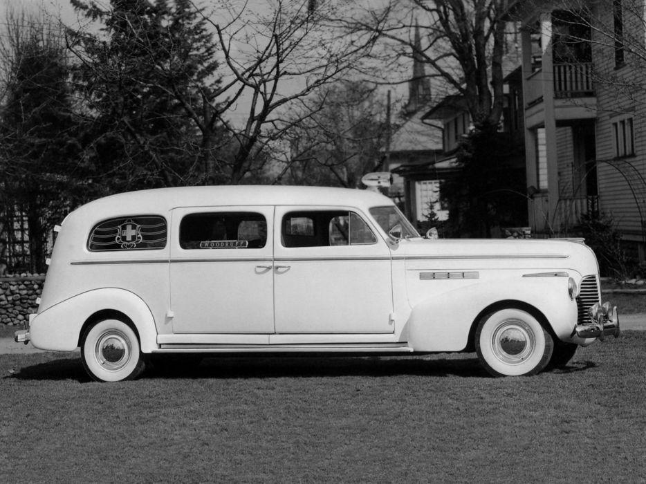 1940 Flxible Buick Ambulance emergency stationwagon retro       g wallpaper