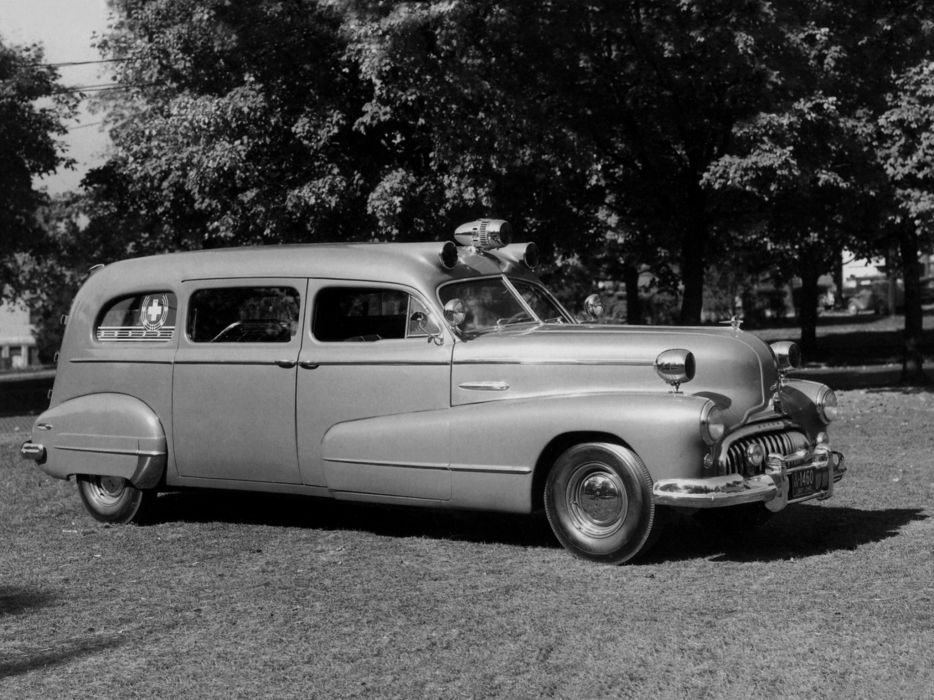 1947 Flxible Buick Premier Ambulance (B22-747) retro emergency stationwagon wallpaper