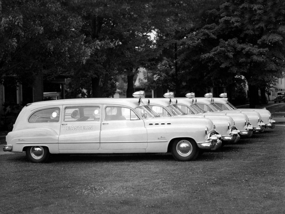 1950 Flxible Buick Premier Ambulance emergency stationwagon retro wallpaper