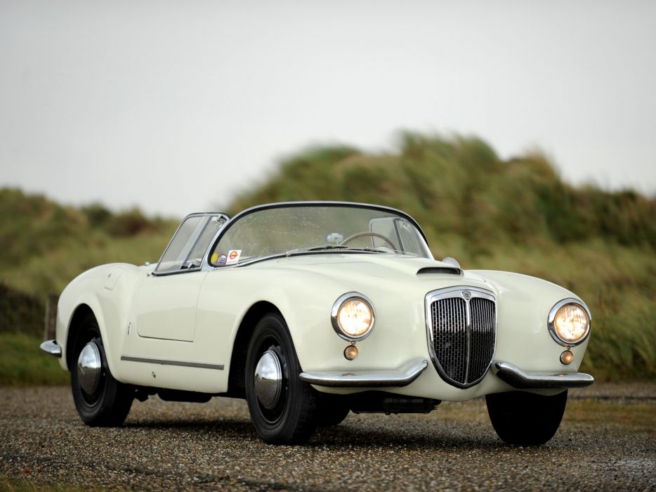 1954-55 Lancia Aurelia G-T Convertible (B24) retro   h wallpaper