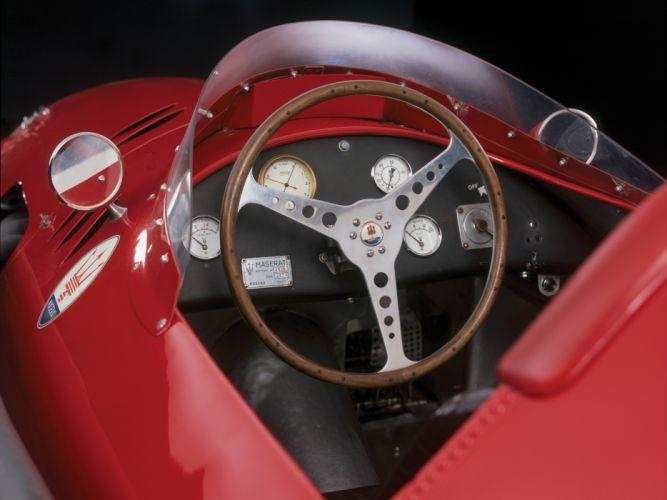1954-60 Maserati 250F race racing retro interior g wallpaper