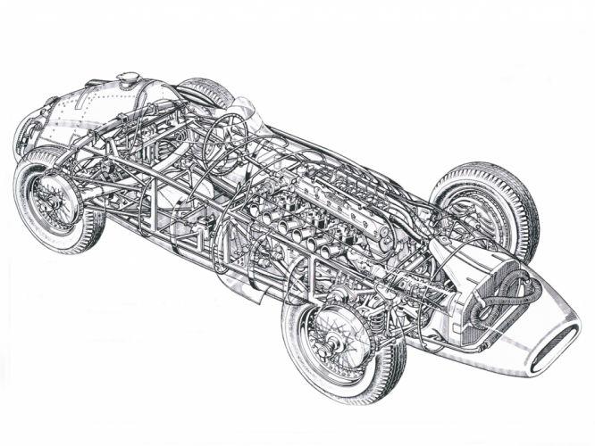 1954-60 Maserati 250F race racing retro interior engine d wallpaper