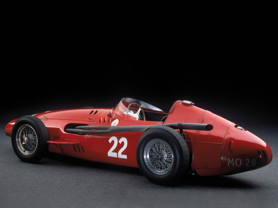 1954-60 Maserati 250F race racing retro   d wallpaper