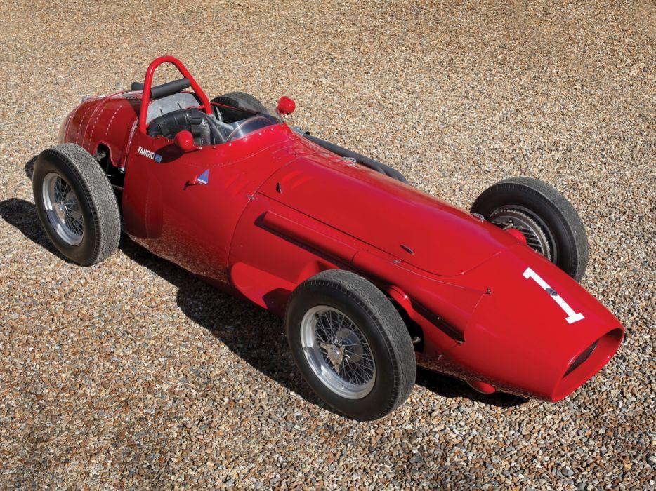 1954-60 Maserati 250F race racing retro       g wallpaper