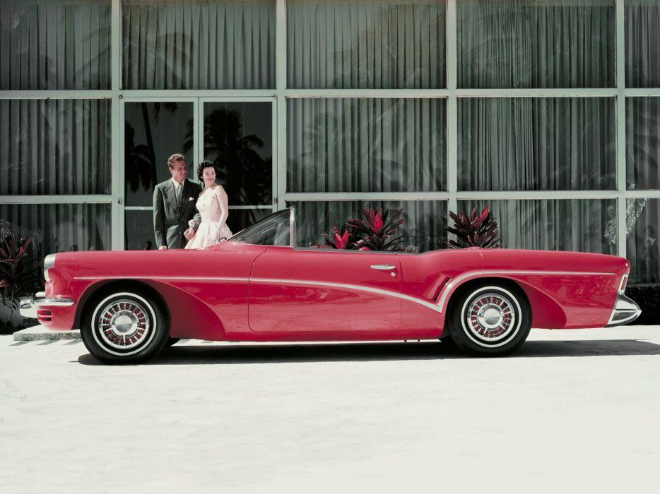 1955 Buick Wildcat III Concept retro        hh wallpaper