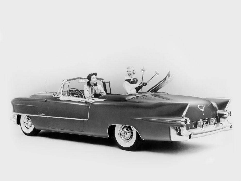 1955 Cadillac Eldorado (6267SX) convertible luxury retro  f wallpaper