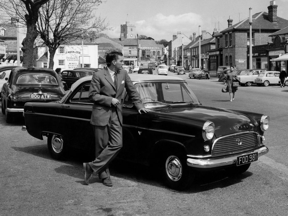 1957 Ford Consul De-Luxe (MkII) retro       h wallpaper