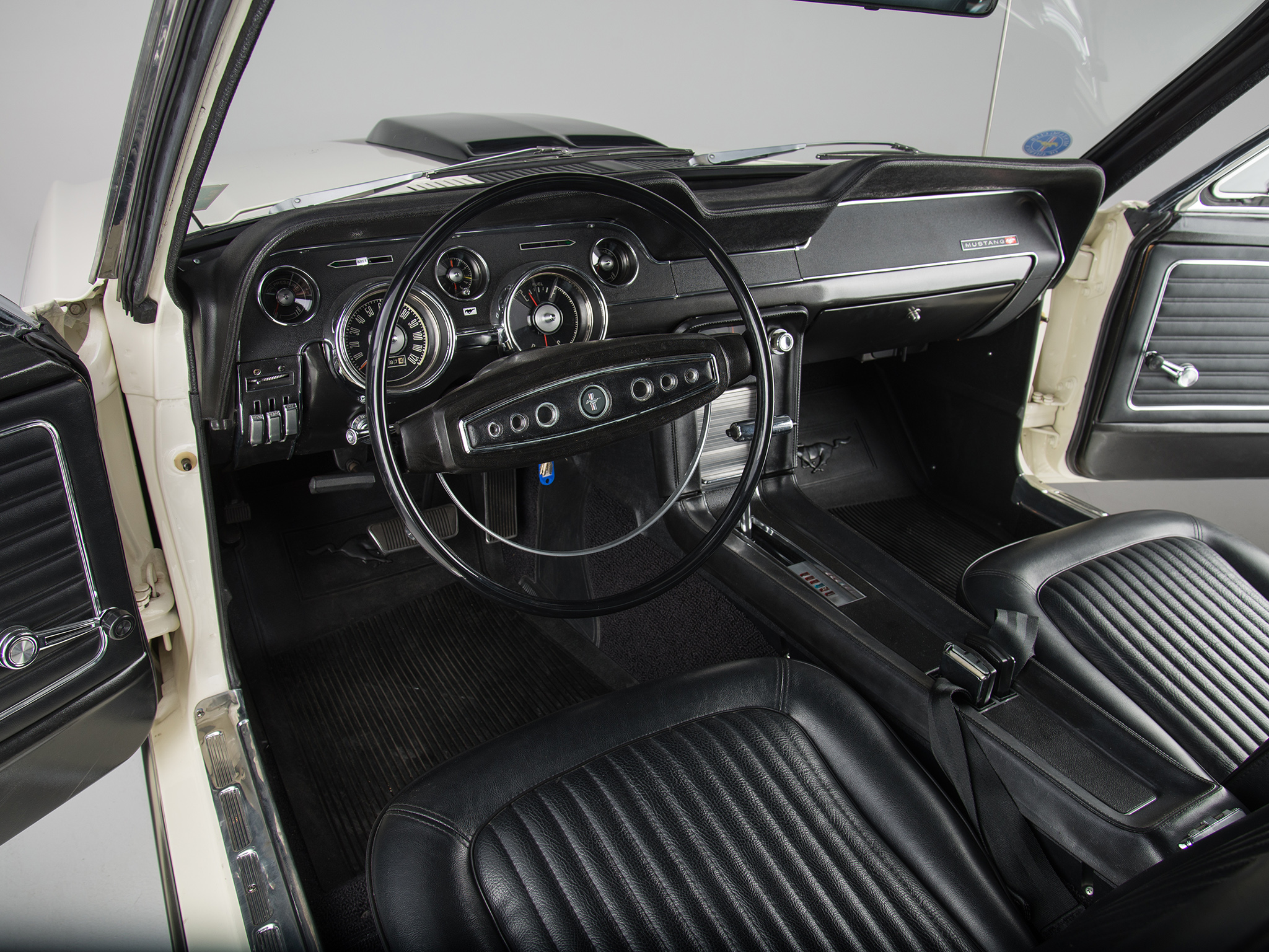 1968 Ford Mustang G T 428 Cobra Jet Fastback Muscle Classic Interior G Wallpaper 2048x1536