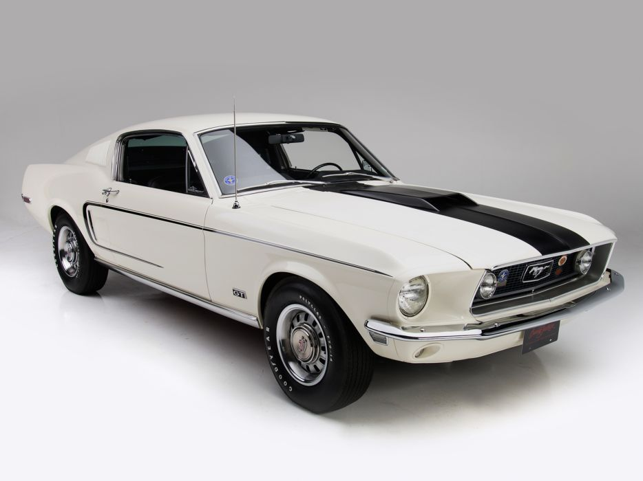 1968 Ford Mustang G-T 428 Cobra Jet Fastback muscle classic   b wallpaper