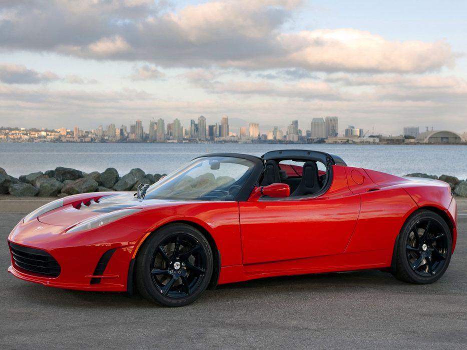 2011 Tesla Roadster 2-5 supercar      f wallpaper