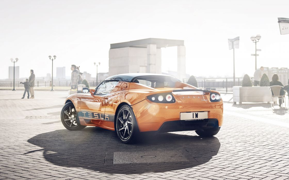 2012 Tesla Roadster supercar  d wallpaper