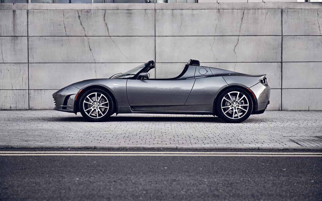 2012 Tesla Roadster supercar   d wallpaper