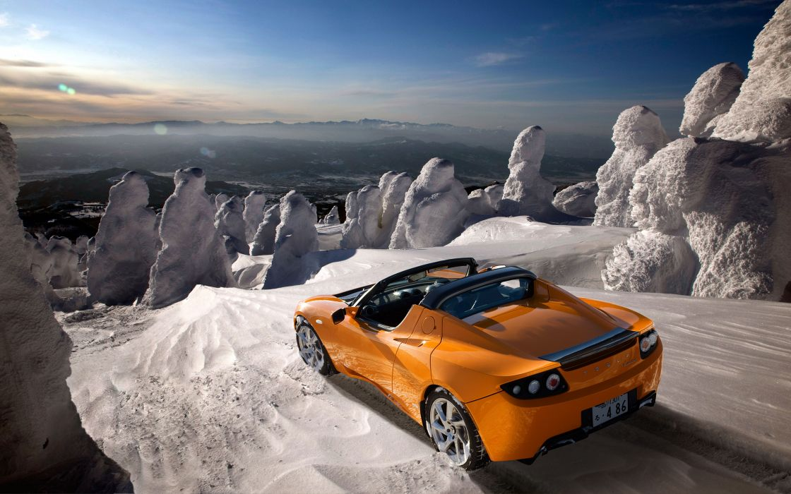2012 Tesla Roadster supercar  ds wallpaper