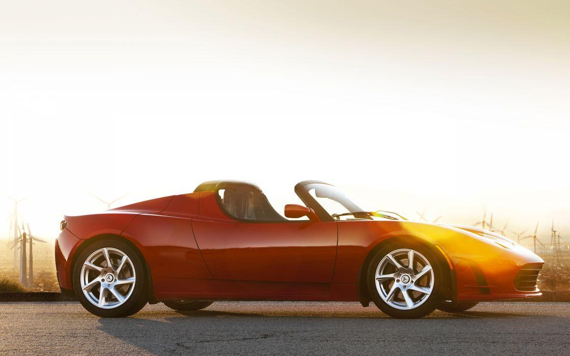 2012 Tesla Roadster supercar   e wallpaper