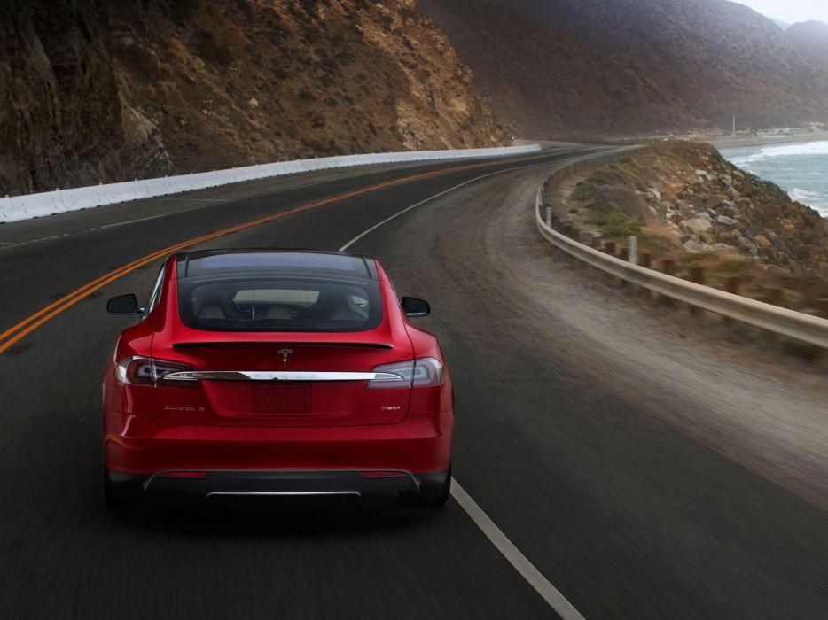 2013 Tesla Model S supercar   e wallpaper
