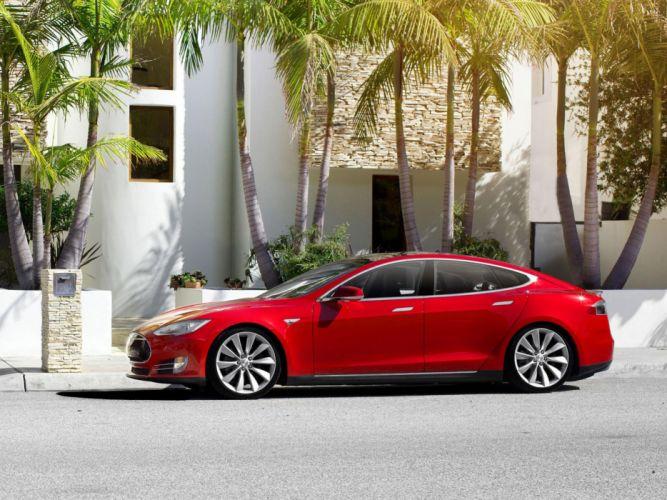 2013 Tesla Model S supercar f wallpaper