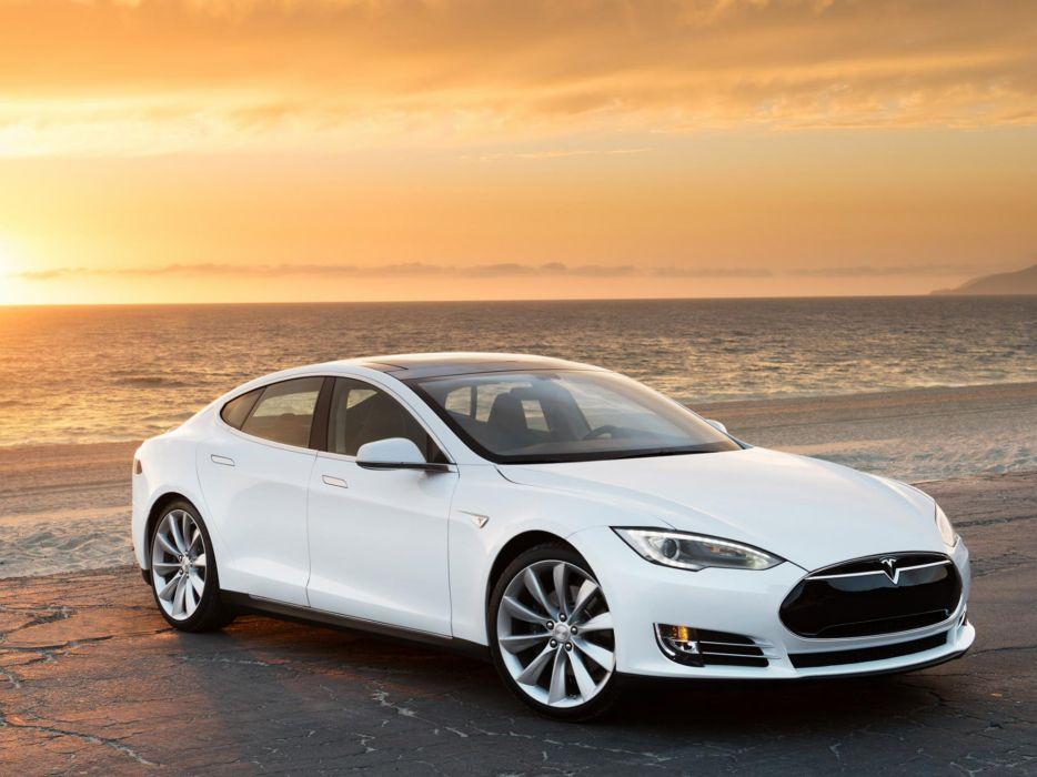 2013 Tesla Model S supercar      g wallpaper
