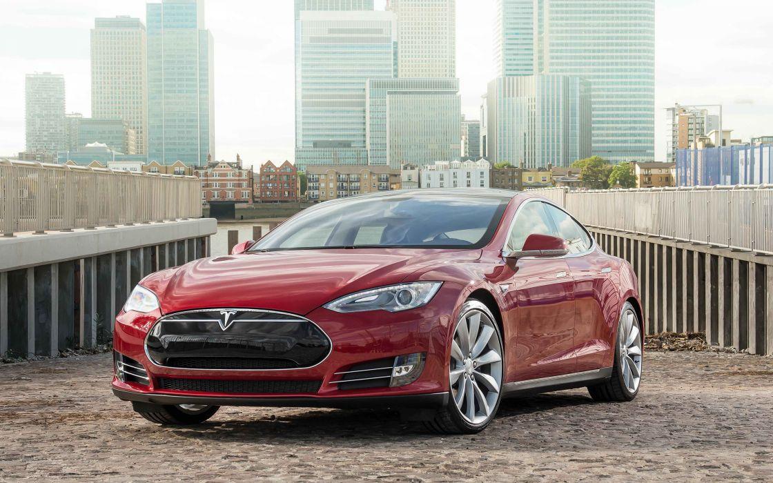 2014 Tesla Model S supercar  f wallpaper