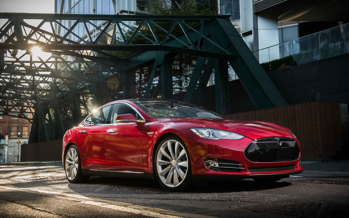 2014 Tesla Model S supercar       g wallpaper