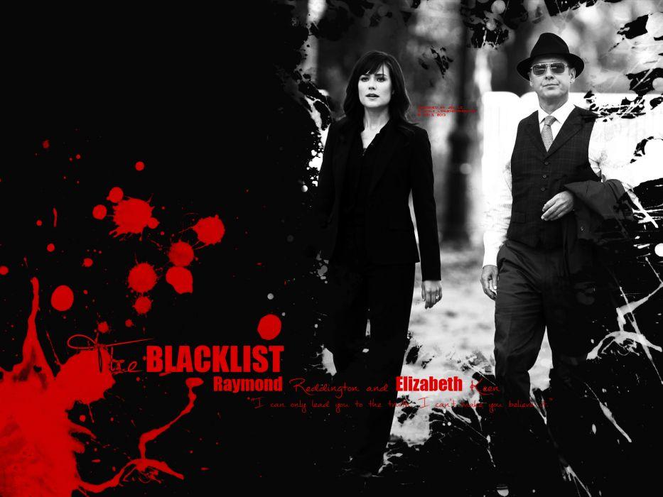 THE BLACKLIST crime drama television poster blood     g wallpaper