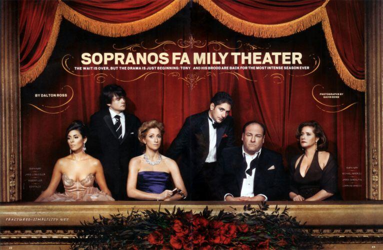 SOPRANOS crime drama mafia television hbo poster fw (4) wallpaper