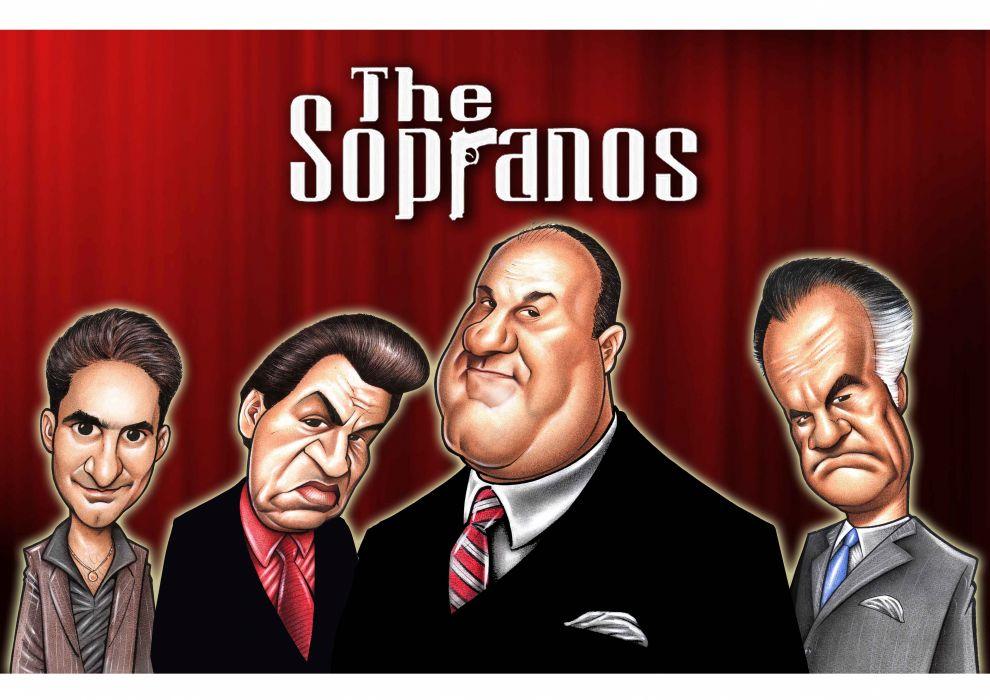 SOPRANOS crime drama mafia television hbo poster  fw (6) wallpaper