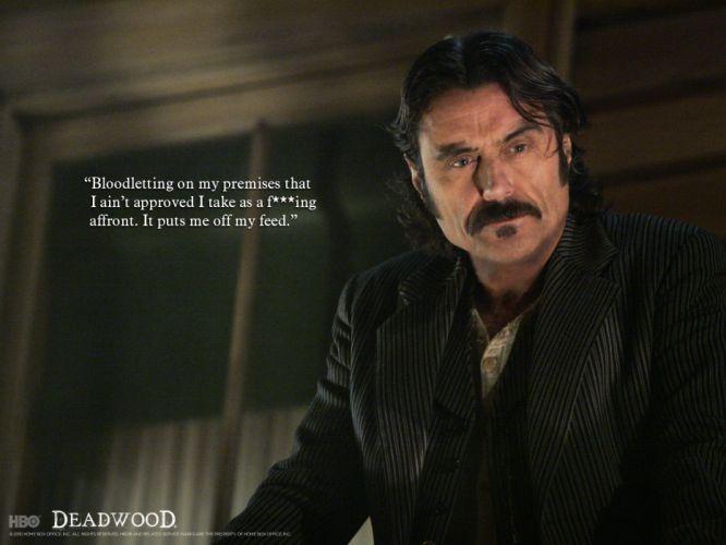 DEADWOOD hbo western drama television poster sadic blood f wallpaper