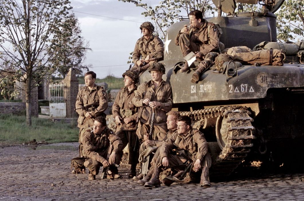 BAND-OF-BROTHERS war military action drama hbo band brothers soldier tank weapon   f wallpaper