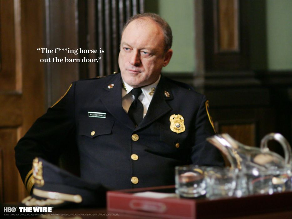 THE-WIRE hbo crime drama television poster sadic police     g wallpaper