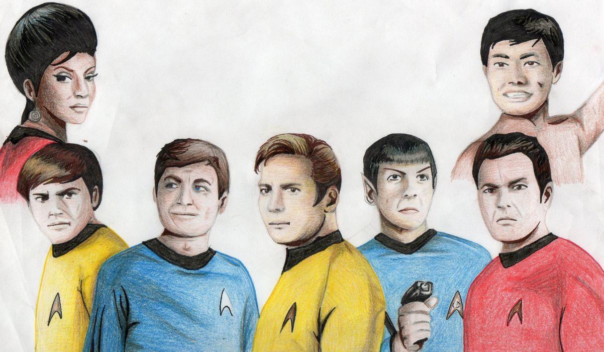 STAR TREK sci-fi action adventure television art drawing         g wallpaper