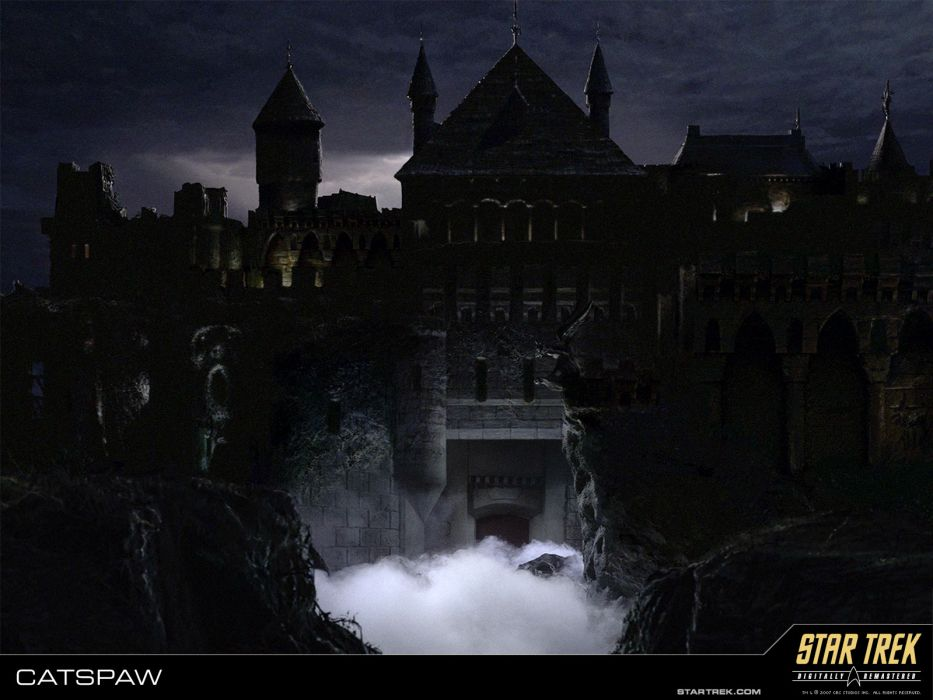 STAR TREK sci-fi action adventure television poster dark haunted halloween castle house horror    h wallpaper