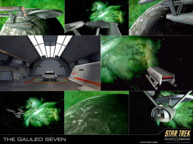 STAR TREK sci-fi action adventure television poster spaceship collage f wallpaper