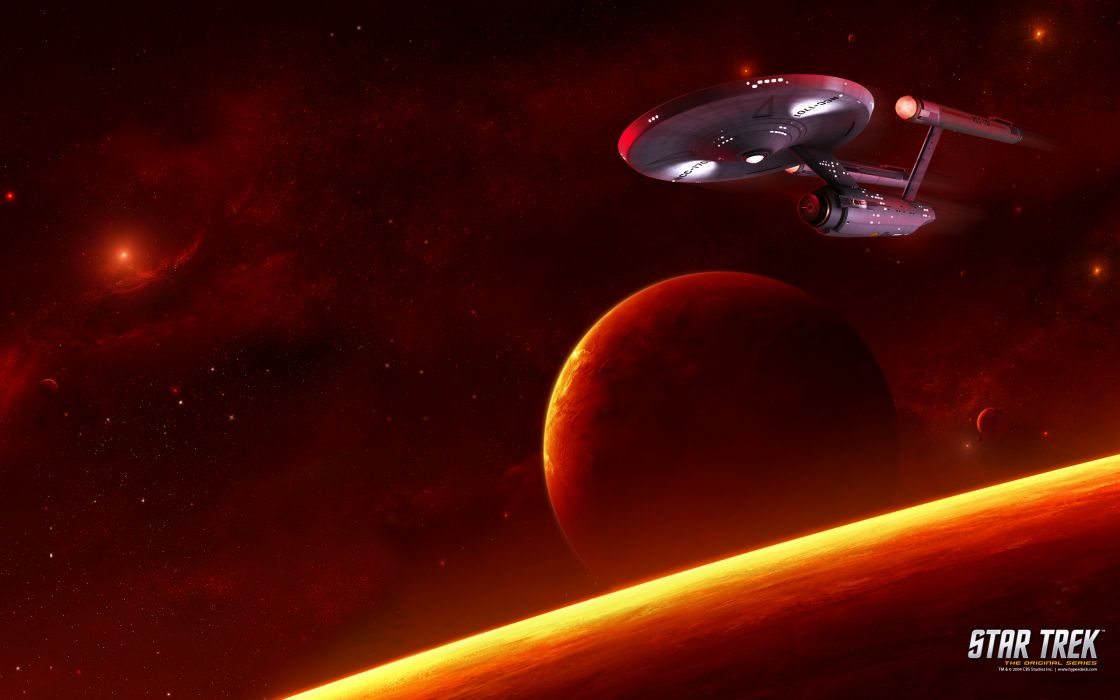 STAR TREK sci-fi action adventure television poster spaceship space stars planet     f wallpaper