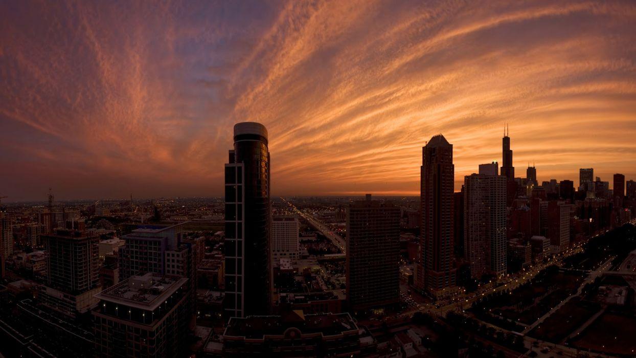 nature city sunset aichitecture building cloud night fog ultrahd 4k wallpaper wallpaper