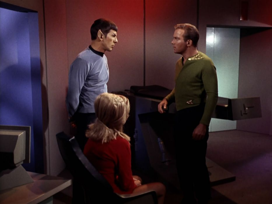 STAR TREK sci-fi action adventure television the-enemy-within (208) wallpaper