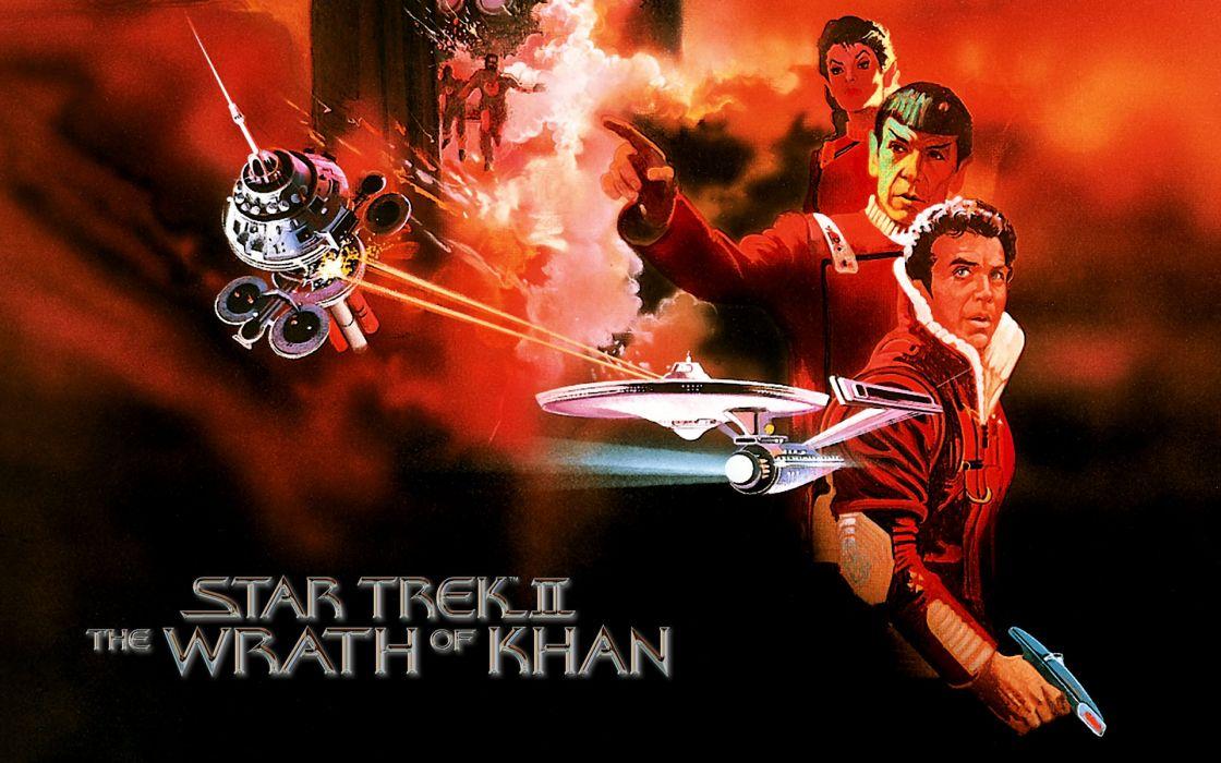 STAR TREK sci-fi action adventure wrath-of-khan wrath khan poster       d wallpaper
