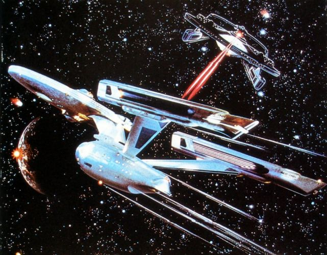 STAR TREK sci-fi action adventure wrath-of-khan wrath khan spaceship battle gd wallpaper