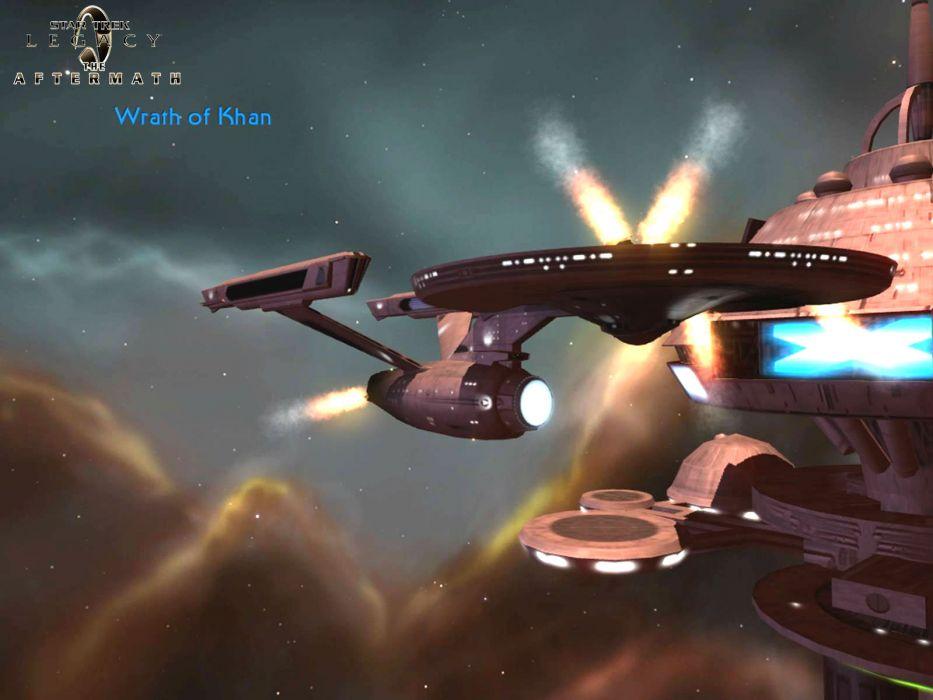 STAR TREK sci-fi action adventure wrath-of-khan wrath khan spaceship stars space poster      g wallpaper