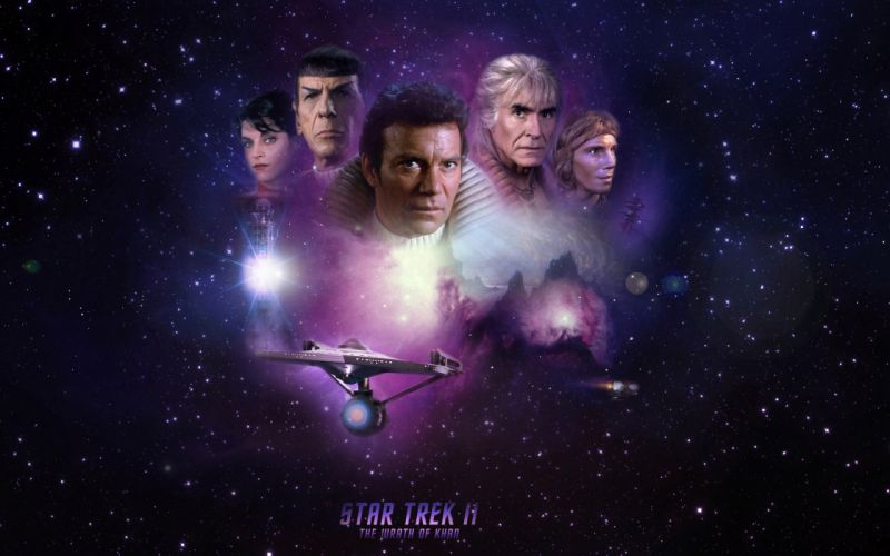 STAR TREK sci-fi action adventure wrath-of-khan wrath khan spaceship stars space poster g wallpaper