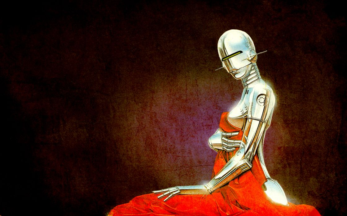 robot girl wallpaper