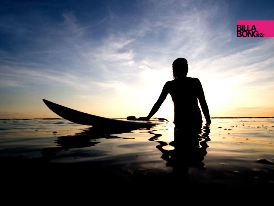 Sunset Billabong Surfers Wallpaper 1600x1200 209338