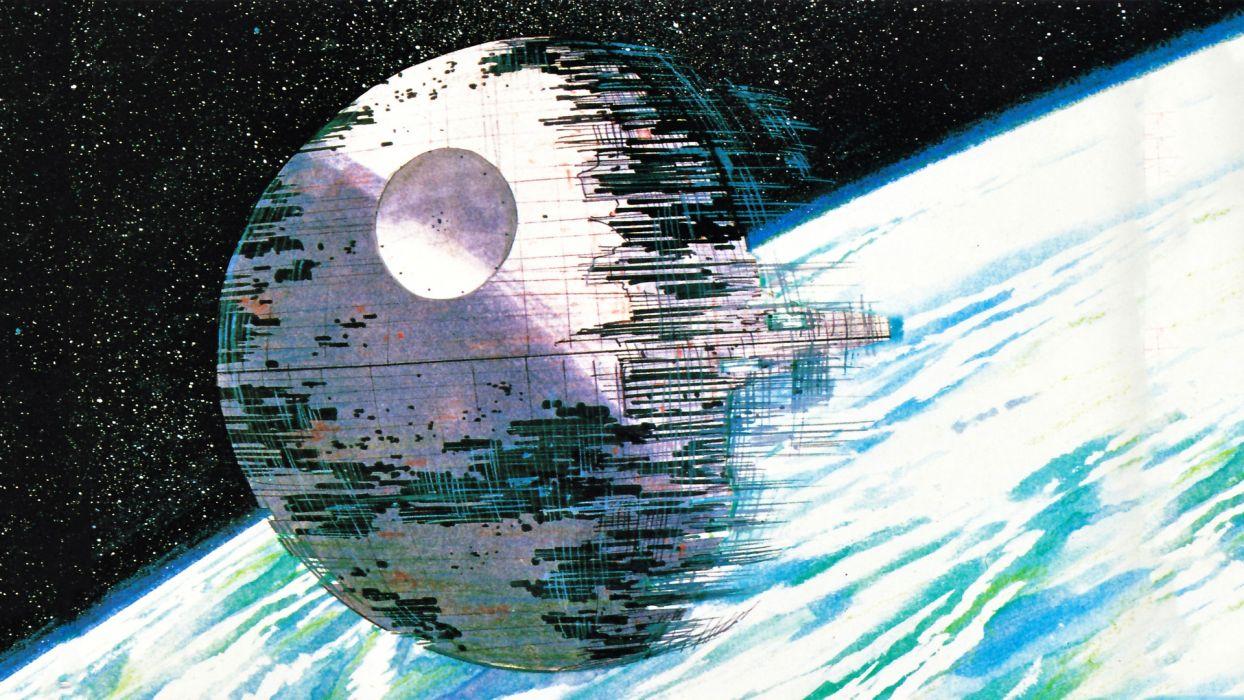 Star Wars Death Star Ralph Mcquarrie Wallpaper 1920x1080 209347 Wallpaperup