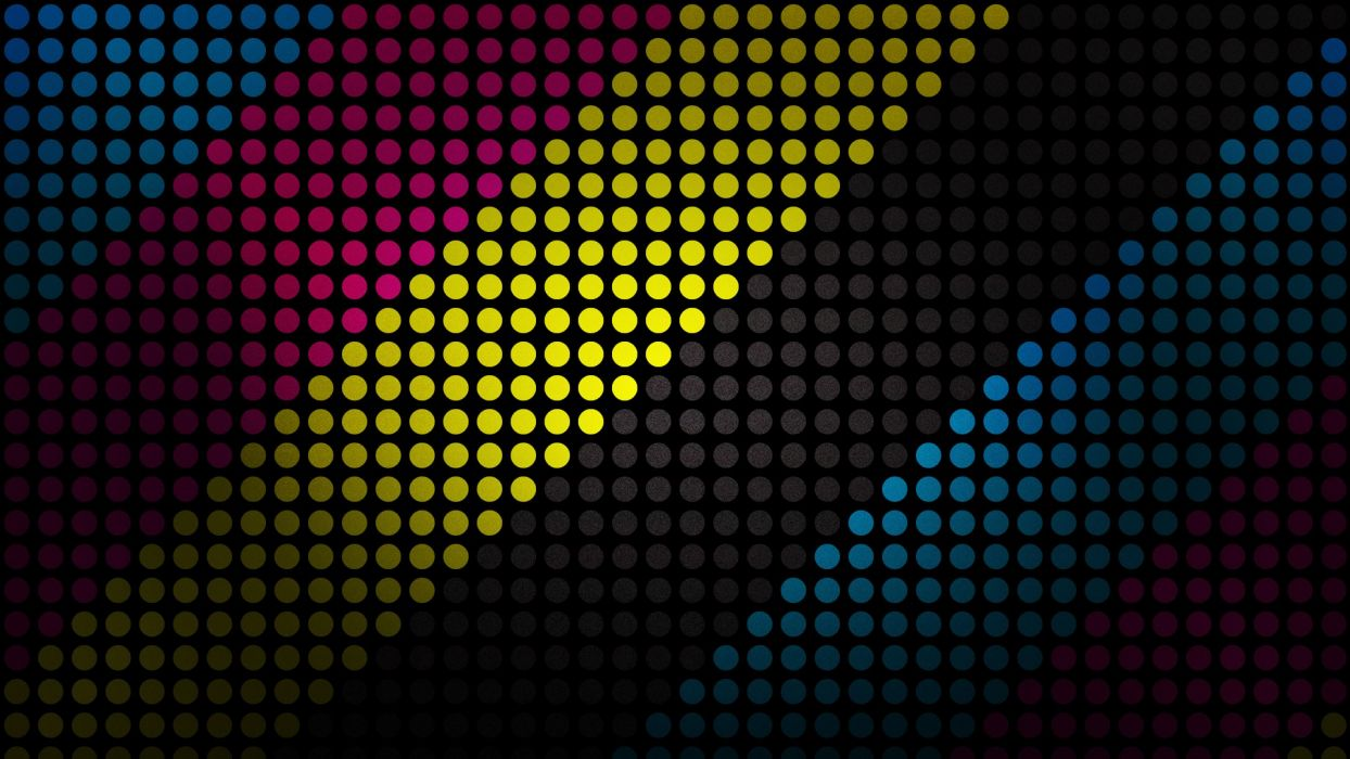 abstract multicolor dots CMYK stripes wallpaper